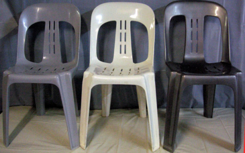 Grey White Silver Chairs