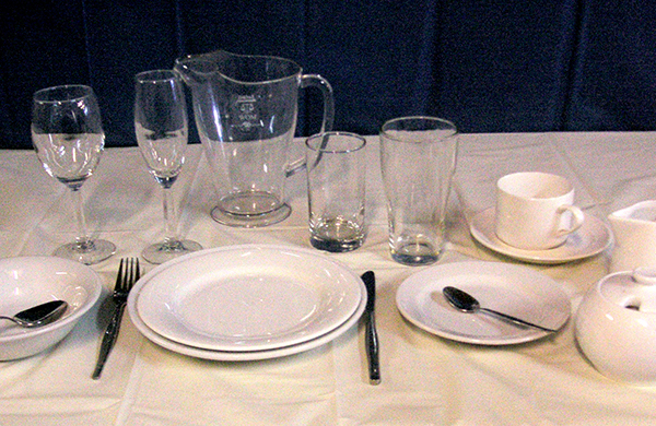 Crockery, cutlery and Glassware Hire